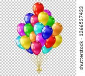 realistic color balloons set ... | Shutterstock .eps vector #1266537433