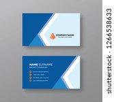 modern blue business card... | Shutterstock .eps vector #1266538633