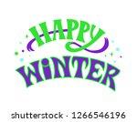 """happy winter""   lettering... | Shutterstock .eps vector #1266546196"