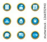 american species icons set....   Shutterstock . vector #1266552943