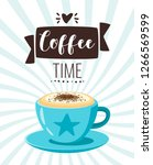 coffee time poster template for ... | Shutterstock .eps vector #1266569599