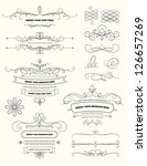 vintage calligraphy design... | Shutterstock .eps vector #126657269