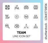 team line icon set. staff ...   Shutterstock .eps vector #1266573856