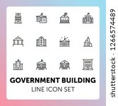 government building line icon... | Shutterstock .eps vector #1266574489