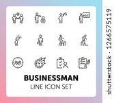 businessman line icon set.... | Shutterstock .eps vector #1266575119