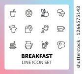 breakfast line icon set. set of ...   Shutterstock .eps vector #1266575143