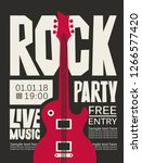 vector poster for rock party...   Shutterstock .eps vector #1266577420