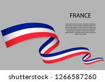 waving ribbon or banner with... | Shutterstock .eps vector #1266587260