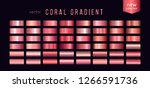 collection of coral gradients ... | Shutterstock .eps vector #1266591736