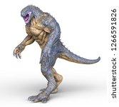 3d cg rendering of monster | Shutterstock . vector #1266591826