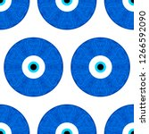 seamless pattern with turkish... | Shutterstock .eps vector #1266592090