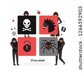 hackers and threats of computer ... | Shutterstock .eps vector #1266592903
