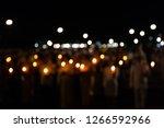 bokeh of light candle | Shutterstock . vector #1266592966