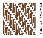 parang rusak   indonesian batik | Shutterstock .eps vector #1266594490