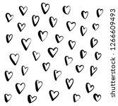 heart doodle  hand drawn in... | Shutterstock .eps vector #1266609493