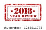 review of the year 2018  stamp... | Shutterstock .eps vector #1266611773