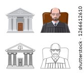 vector design of law and lawyer ...   Shutterstock .eps vector #1266612610