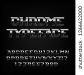 chrome alphabet font. metallic... | Shutterstock .eps vector #1266622000