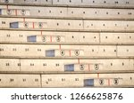 numbered concrete stands or... | Shutterstock . vector #1266625876