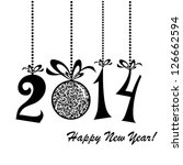 2014 happy new year greeting... | Shutterstock .eps vector #126662594