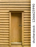 typical wooden door and house... | Shutterstock . vector #1266625990