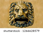 detail on the head of a lion... | Shutterstock . vector #1266628579