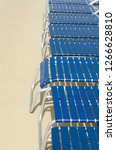 some lounge chairs in blue to... | Shutterstock . vector #1266628810