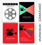 set of abstract movie and film...   Shutterstock .eps vector #1266631603