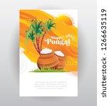 pongal festival greeting... | Shutterstock .eps vector #1266635119