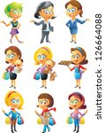 female set | Shutterstock . vector #126664088