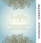 invitation card romantic and... | Shutterstock .eps vector #126665348