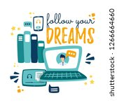 the video elearning courses.... | Shutterstock .eps vector #1266664660