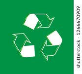 recycle logo concept. vector.... | Shutterstock .eps vector #1266670909