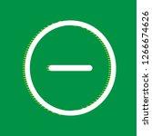 negative symbol illustration.... | Shutterstock .eps vector #1266674626