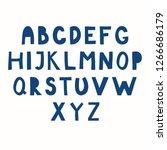 hand drawn latin alphabet in... | Shutterstock .eps vector #1266686179