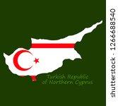 northern cyprus region map ... | Shutterstock .eps vector #1266688540