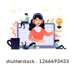 concept customer and operator ... | Shutterstock .eps vector #1266693433