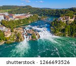 rheinfall   the biggest... | Shutterstock . vector #1266693526