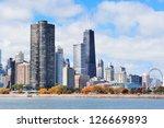 Chicago City Urban Skyline Wit...