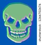 skeleton color distortion | Shutterstock .eps vector #1266702676