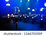 old retro microphone | Shutterstock . vector #1266703309