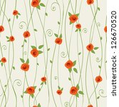 Stock vector floral seamless texture 126670520