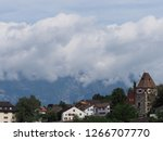 stony tower and housing estate... | Shutterstock . vector #1266707770