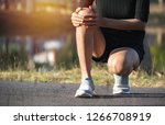 the female clings to a bad leg. ... | Shutterstock . vector #1266708919