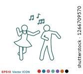 dancing vector icon....   Shutterstock .eps vector #1266709570