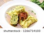 swabian dumplings in broth ...   Shutterstock . vector #1266714103