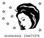 portrait of a girl | Shutterstock . vector #126671576