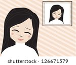 happy girl with her picture | Shutterstock . vector #126671579