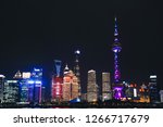 night shot of pudong side of... | Shutterstock . vector #1266717679