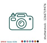 camera icon in flat style...   Shutterstock .eps vector #1266719476